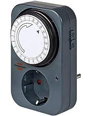 Brennenstuhl tijdschakelklok MZ 20, mechanisch stopcontact (dag-timer met kinderbeveiliging) kleur: grijs
