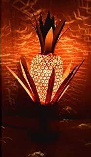 DC ECO Bamboo Table lamp (Pineapple Still) Home, Decor Gift Item (17 inches)
