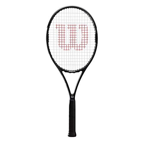 Wilson Pro Staff Precision 100, Wr019010U3 Racchetta da Tennis, Tennisti Amatoriali di Livello Avanzato, Fibra di Carbonio e Basalto, Antracite, Manico 2