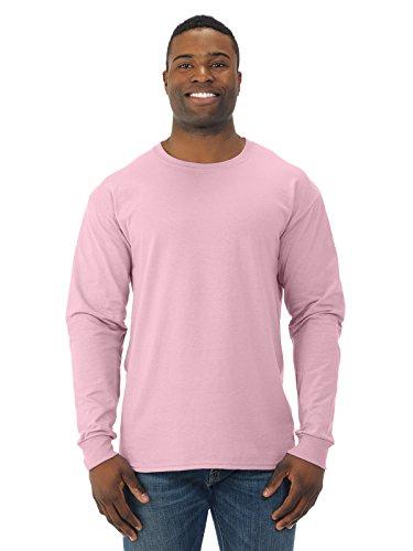 Jerzees 29L 5.6 G 50/50 T-shirt à manches longues pour homme - Rose - X-Large
