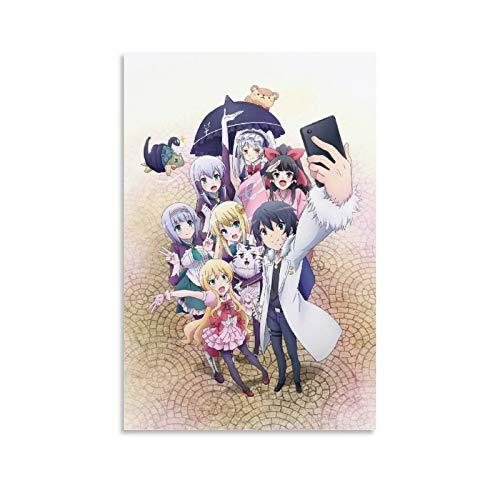 Anime In Another World With My Smartphone Poster, dekoratives Gemälde, Leinwand, Wandkunst, Wohnzimmer, Poster, Schlafzimmer, Malerei, 20 x 30 cm