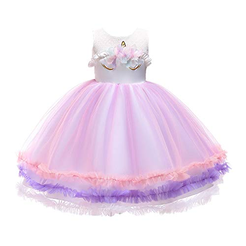 Lee Little Angel 2018 jurk meisjes prinses jurk Unicorn Rok