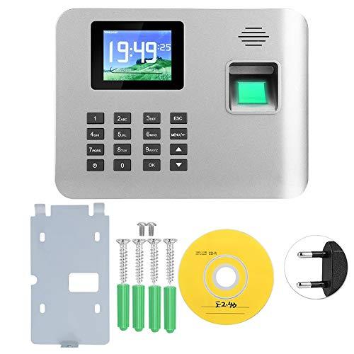 Rilevatore Presenze Con Impronta Digitale, Sistema Di Controllo Accessi Macchina Presenze, Impronta Digitale Intelligente + Password Punch Con Schermo TFT HD Da 2,8 Pollici(Unione Europea)