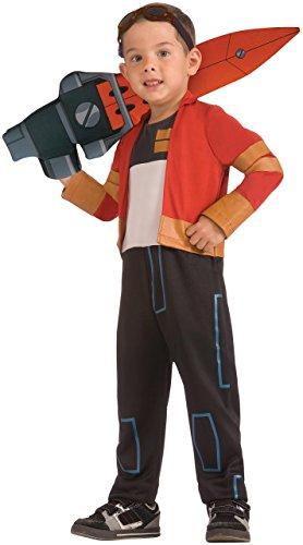 Rex - Ben 10 Omniverse - Costume Bambino - Taglia M:132 centimetri