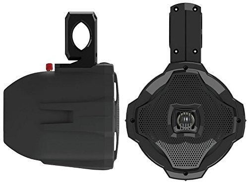 Lanzar AQWB65B 500W Marine Wake Board Zweiwege-Lautsprecher (16,5cm/6,5Zoll), Schwarz