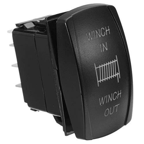 BotóN De Interruptor De Coche 12V 20A 24V 10A 7Pin Coche de la luz Rocker Interruptor momentáneo Interruptor de botón Torno In out ON/Off Barco (Color : Blue)