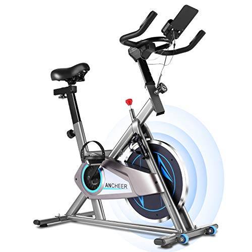As Seen On TV 3-in-1 Stationary Bike - Folding Indoor Exercise Bike with APP and Heart Monitor - Perfect Home Exercise Machine for Cardio (Silver)