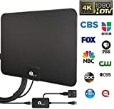 [Updated 2020] Ultra-Thin Amplified HD Digital TV Antenna - Support 4K HD VHF UHF Freeview Television Indoor Powerful HDTV Amplifier Signal Booster and Longer Coax Cable