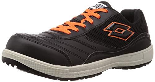 [ロットワークス] LW-S7007 JSAA A種認定 プロテクティブスニーカー 安全靴 作業靴 鋼鉄製先芯 メンズ ブラック 25 cm 2E