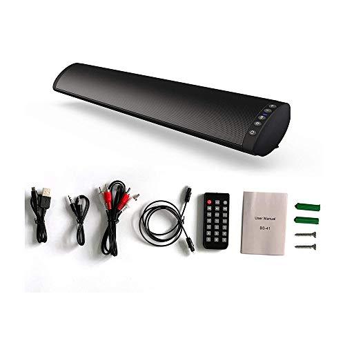 HBBOOI Kanal, Db 37 Zoll Lautsprecher Bluetooth Mit Eingebaute Bass,DSP for TV (Mit AUX,USB,Optischer Anschluss) Heimkino,Party-Schwarz,Schwarz
