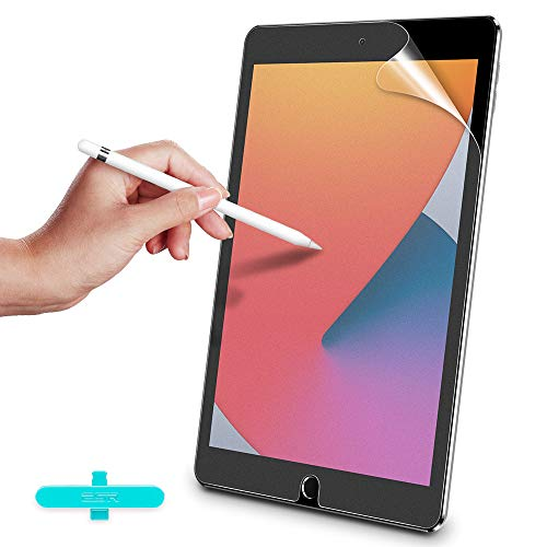 ESR Paper-Feel Screen Protector for iPad 8th Gen 10.2 (2020)/7th Gen (2019)/Air 3 (2019)/Pro 10.5 (2017), Supports iPad Pencil, Write and Draw Like on Paper, Anti-Glare Matte PET Film, 2 Packs