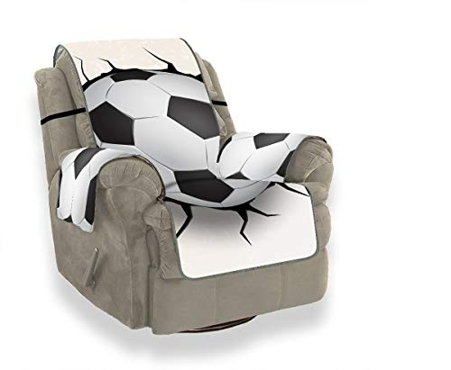 JOCHUAN Soccer Ball Coming In Cracked Wall T Chair Slipcovers with Arms Sofa Moving Cover Sofas Covers for Living Room Furniture Protector for Pets, Kids, Cats, Sofa