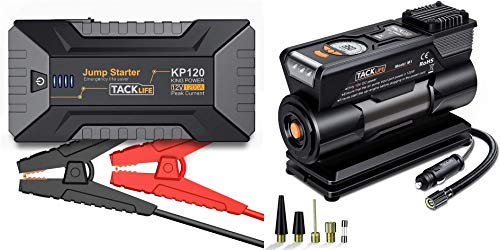 Amazing Deal TACKLIFE KP120 1200A Jump Starter and M1 12V DC Tire Inflator Air Compressor