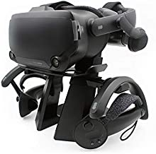 AMVR VR Headset Display Stand and Controllers Holder for Steam Valve Index Virtual Reality Mount Station