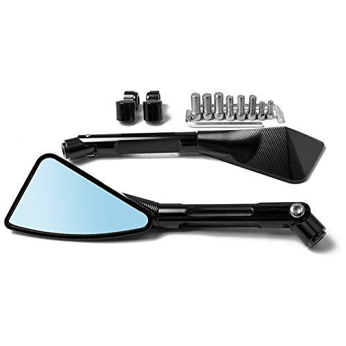 luobu Espejo Retrovisor Moto Retrovisor Espejo Lateral de la Motocicleta Vista Trasera Espejo de la Motocicleta Espejo retrovisor para HON-DA CBR 600 F2, F3, F4 CBR954RR CB600F (Color : Negro)