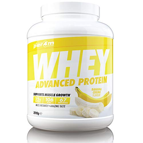 per4m Whey Advanced Protein Powder, 67 Servings of Delicious Muscle Building Protein, Banana, 2010g