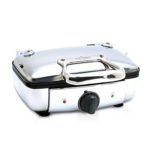 All-Clad 99011GT Stainless Steel Belgian Waffle Maker with 7 Browning Settings,...