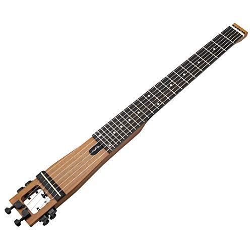 Anygig Portable Reisende Gitarre 24 Bünde Mattbraun 25.5 inch Bass Linkshänder