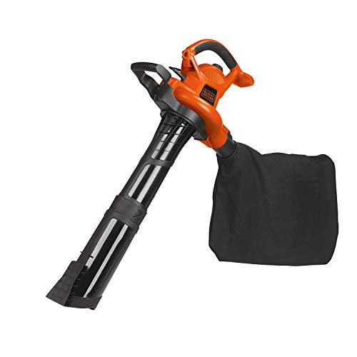 BLACK+DECKER Leaf Blower & Leaf Vacuum, 3-in-1,...