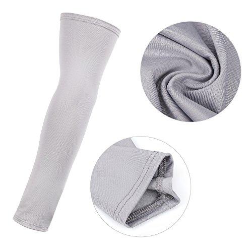 Tagvo Arm Sleeves, 3 Paar Outdoor Sports Arm Warmers Atmungsaktive Soft UV Schutz Cover Elbow Ärmeln Stretchy Arm Cooling Covers für Laufen/Radfahren/Fahren/Klettern/Golfen - 3