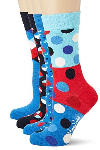 Happy Socks Damen Navy Gift Box Socken, Mehrfarbig (Multicolour 650), 4/7 (Herstellergröße: 36-40)