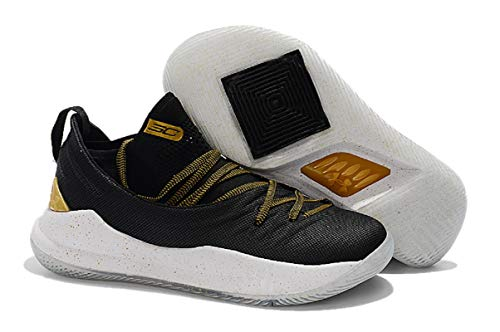 UnderArmour UA Men's Stephen Curry 5 Low Black/Gold Basketball Shoes -11 UK