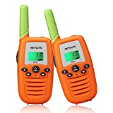 Retevis RT37 Walkie Talkies for Kids,Toys Gifts for Children Aged 6-12,22 CH LED Flashlight Long Range Rechargeable for Family, Party,Outdoor Camping(Orange,2 Pack)