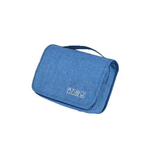 Kulturtasche zum Aufhängen Faltbarer Reise Kulturbeutel mit Tragegriff Waschtasche Waschbeutel für Herren Damen Himmelblau