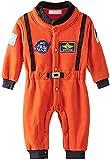 Bilo Design Baby Toddler Boy Orange Astronaut Fleece Costume Jumpsuit Cosplay Party Halloween Baby Boy Clothes, 18-24 Months