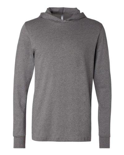 Canvas - T-shirt à manches longues et capuche - Adulte unisexe (M - 97/104cm) (Gris foncé)
