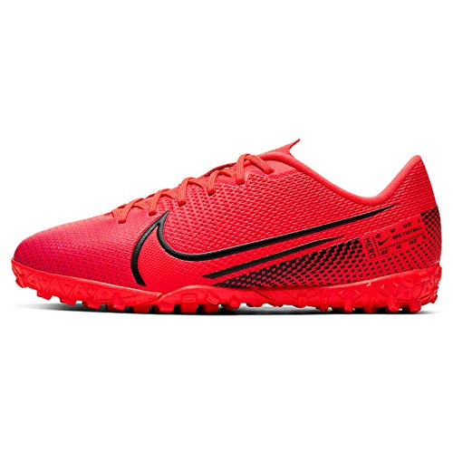 Nike Vapor 13 Academy TF, Botas de fútbol Unisex niños, Rojo (Laser Crimson/Black-Laser Crim 606), 32 EU