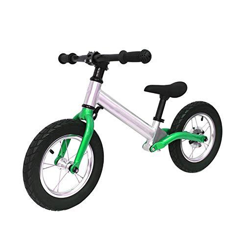 ZXL Bici per Bambini, per Bicicletta da Allenamento per Bambina 3 3 4 5 Anni, Bici da Passeggio per Bambini Senza Pedale, Ruote da 12 Pollici,Verde