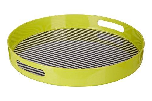 Premier Housewares MIMO à Rayures Plateau avec poignée, Mélamine, Multi/colorées, 38 x 38 x 5 cm