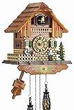 Eble Heidi Haus II 60830000 Horloge coucou en bois véritable avec mouvement à quartz alimenté par piles 25 cm