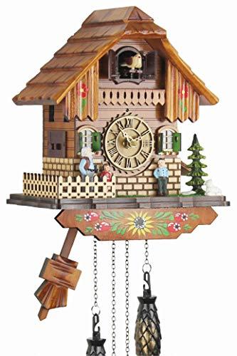 Eble Heidi Casa II 60830000 - Reloj de cuco (mecanismo de cuarzo, funciona con pilas, 25 cm)