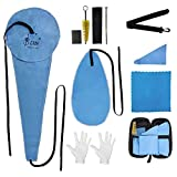 YZNLife Saxophone Cleaning Kit with Case Included Thumb Rest Cushion Reed Case Mouthpiece Brush Mini Screwdriver Cleaning Cloth for Alto Tenor Clarinet Flute and Wind & Woodwind instrument