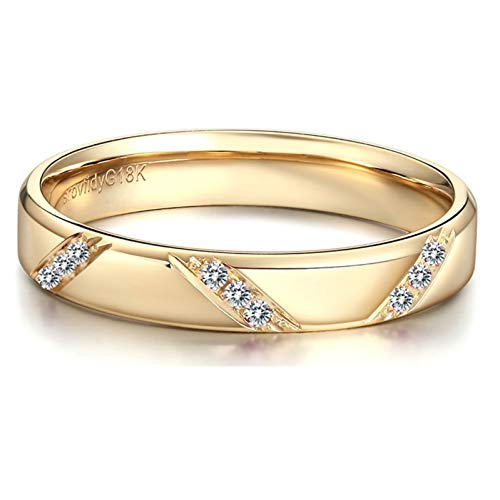 Ubestlove Diamond Ring 18K I Love You Gifts For Girlfriend Natural South African Diamond Ladies Ring V 1/2