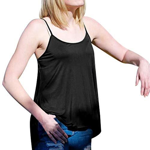 T-Shirt Oben Volltonfarbe Freizeit Rundhalsausschnitt Weste Sommer Mode Damenbekleidung Freizeit Sling Groß Shirt Lose Zurück öffnen Konventionell Ärmellos Tanktops