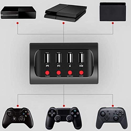 W-HUAJIA Tastatur- und Maus-Konverter, PG-9133 FPS-Spiele-Tastatur- und Mausadapter / -umwandler für N-Switch / P4 / X1 Originalcontroller/für Xbox One für den Schalter