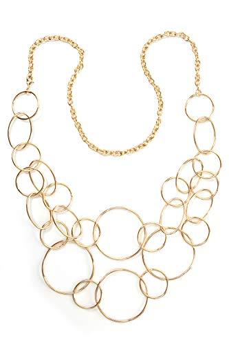 collezione alessandro Lange Kette Eliza mit unterschiedlichen Ringen
