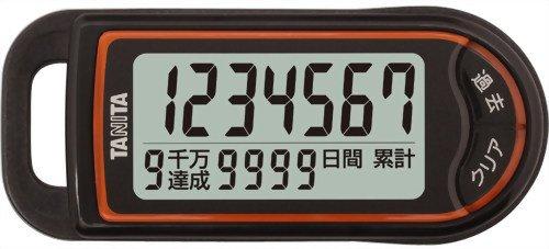 タニタ(TANITA) 3Dセンサー搭載歩数計 「億歩計」 ブラック FB-732-BK