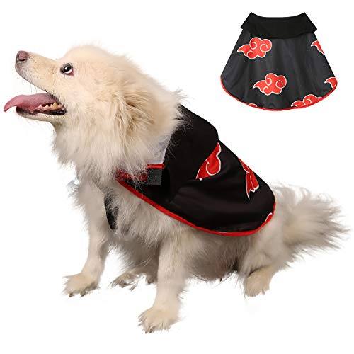 Impoosy Pet Halloween Dog Costume Cloak Cat Anime Ninja Hoodies Cute Cosplay Cape for Small to Large Dogs Cats Clothes (X-Large)