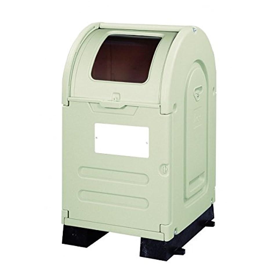 共同選択レインコートあそこアロン化成 ステーションボックス透明 #300B(固定台座仕様) 『ゴミ袋(45L)集積目安 6袋、世帯数目安 3世帯』 『ゴミ収集庫』 ウォームグレー