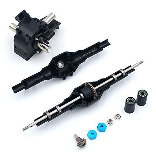 Durable Mejoras de Metal para Wltoys 12428 12423 12628 RC Car Repuesto de Piezas de Repuesto Juego de Engranajes de diferencial Delantero Trasero de Metal 12428-0091/0133 Piezas de Impresora 3D (Col
