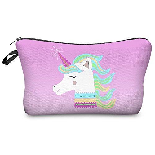 Fringoo® Mädchen Jungen Federtasche, Einhorn-Design, Make-up-Tasche L Unicorn Team