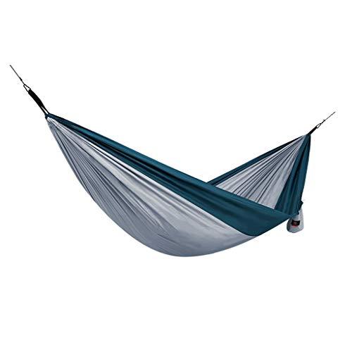 ZRJ Hamaca Doble Camping Hamcock Portable Beach Swing Bed Al Aire Libre con para Viajar Playa Backyard (Color : Gris)