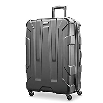 Samsonite Centric Hardside Expandable Luggage with Spinner Wheels Black Checked-Large 28-Inch