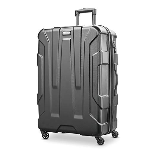 Samsonite Centric Hardside Expandable Luggage with Spinner Wheels, Black, Checked-Large 28-Inch