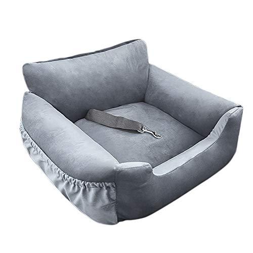 NIBESSER 2-in-1 Autositz Bett für Hunde Hundesitz Waschbar Auto Hundebett rutschfest Hundedecke Hundekorb Sitzerhöhung für Rückbank Doppelte Verwendung innen und außen