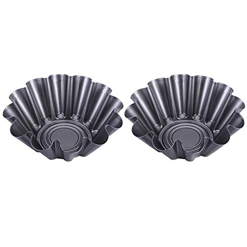 Taco Salad Bowl MakersPortable Heat Resistant Carbon Steel Flower Baking MoldNonStick Fluted Tortilla Shell Pans1/2 Pcs Tostada Baking Molds